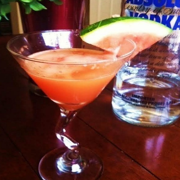 Watermelon Sunshine Martini Cocktail