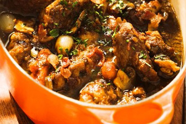 Duck, Bacon And Onion Casserole