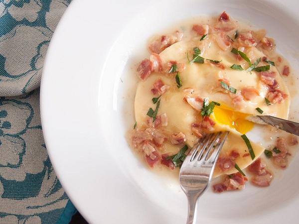 Runny Egg Yolk Ravioli