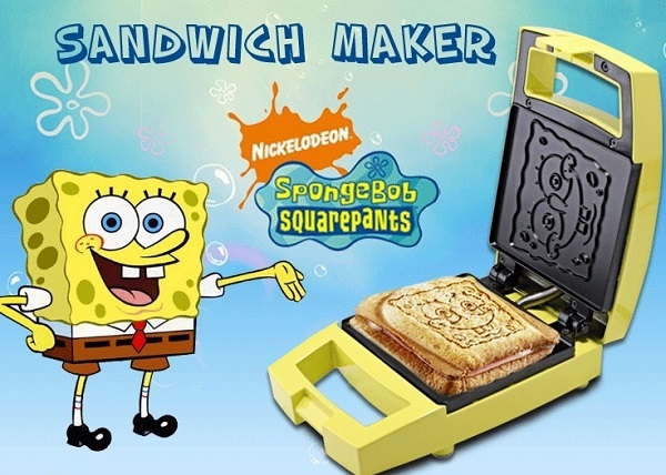 SpongeBob Grilled Cheese Sandwich Toaster