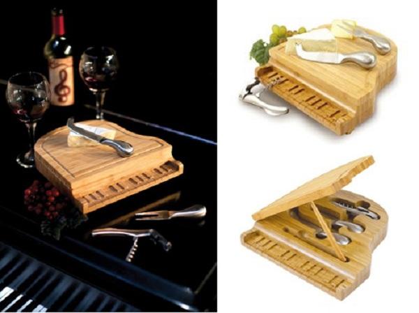 Piano Cheese Board Set