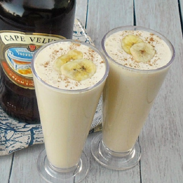 Boozy English Toffee and Banana Milkshake