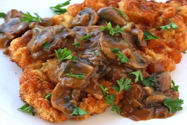 Hunter Schnitzel with Mushroom Gravy