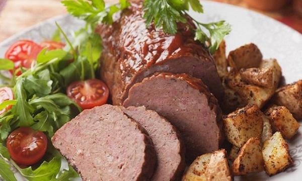 Traditional Czech Sekaná Pečeně (Baked Mincemeat)