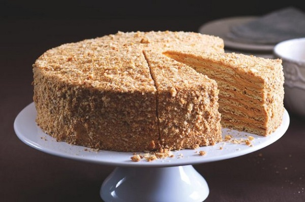 Traditional Czech Medovník (Honey Cake)