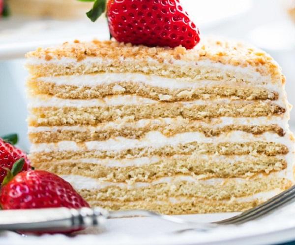 Traditional Latvian Honey Cake