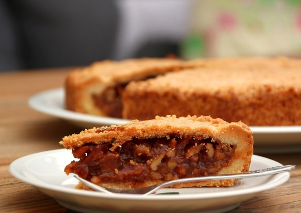 Traditional Swiss Engadiner Nusstorte (Swiss Nut Tart)