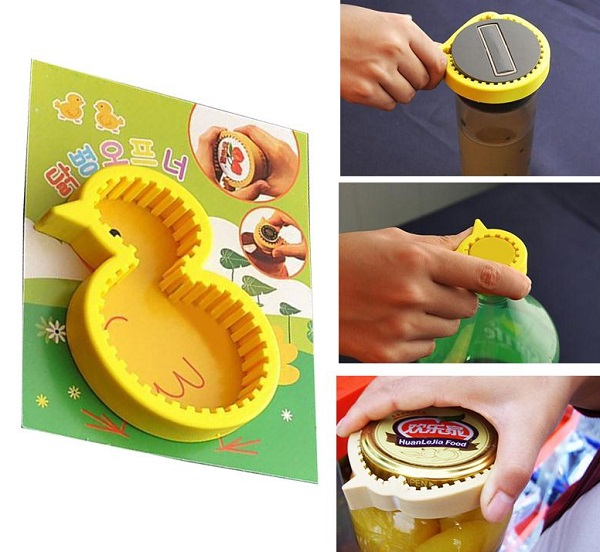 Yellow Duck Silicone Jar And Bottle Opener - by DHgate