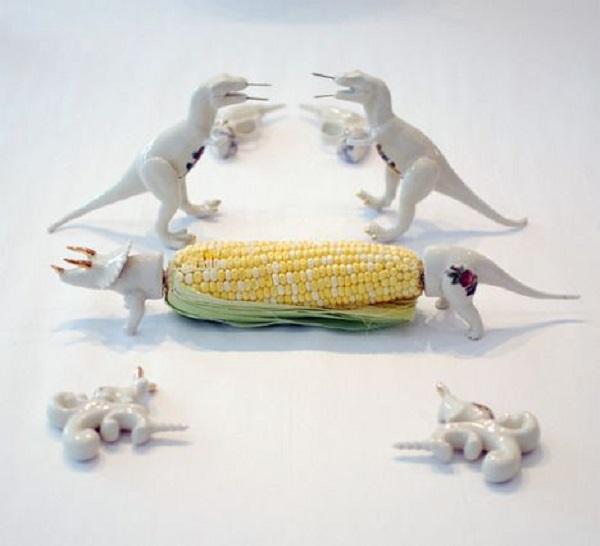 Todesignoffsite Dinosaur Cob Holders