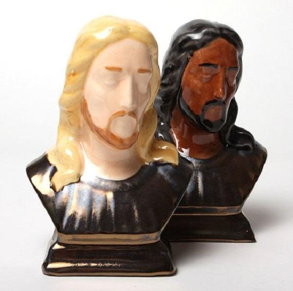 Big Range Jesus Christ Multiracial Salt and Pepper Shakers