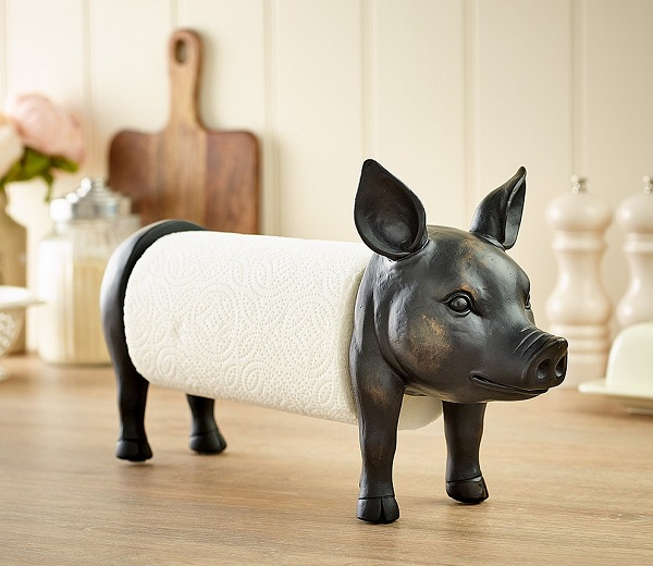 Museum Selection Pig Kitchen Roll Holder