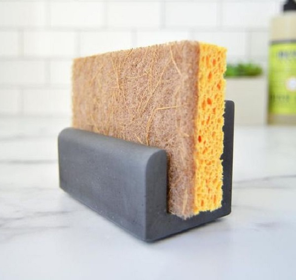 Concrete Kitchen Sink Sponge Holder by ETSY