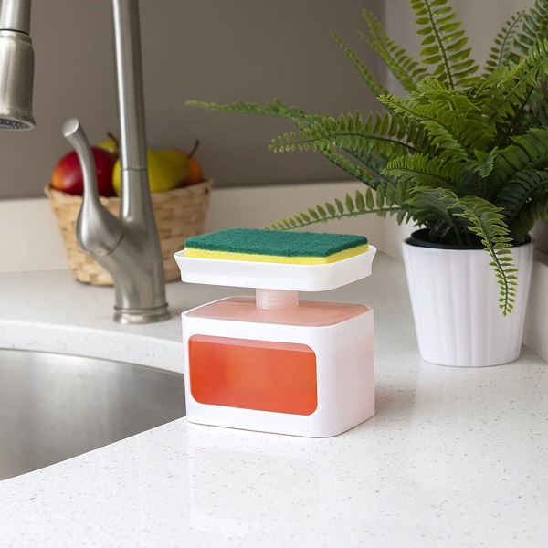 Soap Dispensing Sponge Holder by Home Basics