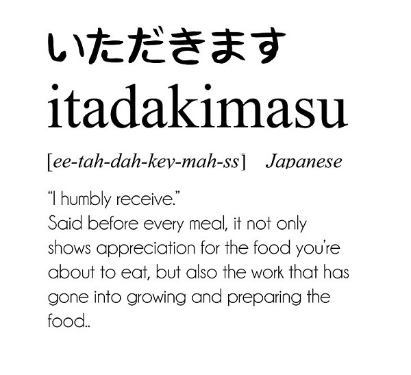 Do Say Itadakimasu Before You Dig In