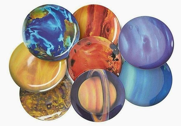 Melamine Planet Dinner Plates