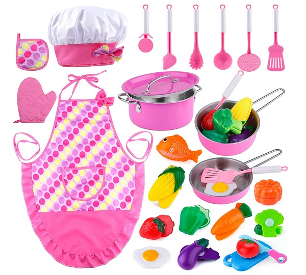 Kids Chef Role Play Cooking Set