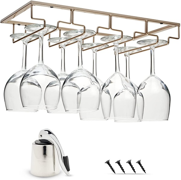 Employ The Bartender's Solution For Your Glasses By Buying A Stemware Rack