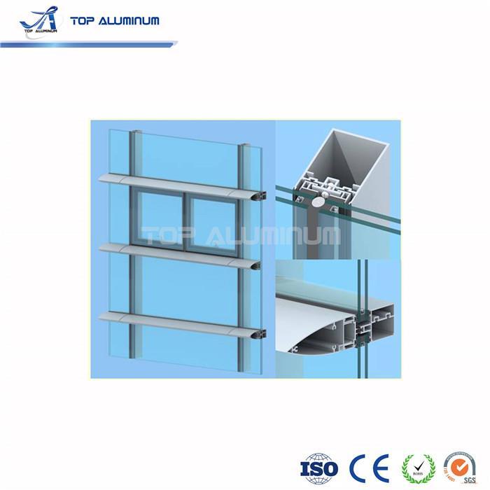 china aluminum profile glass curtain