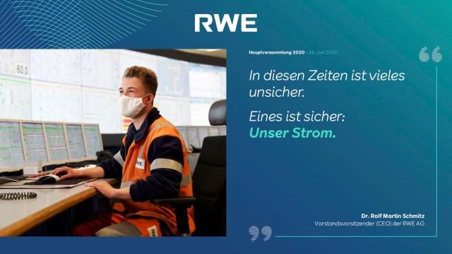 Strom von RWE soll sicher sein.