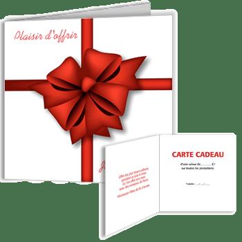 Carte Cadeau Plaisir Doffrir