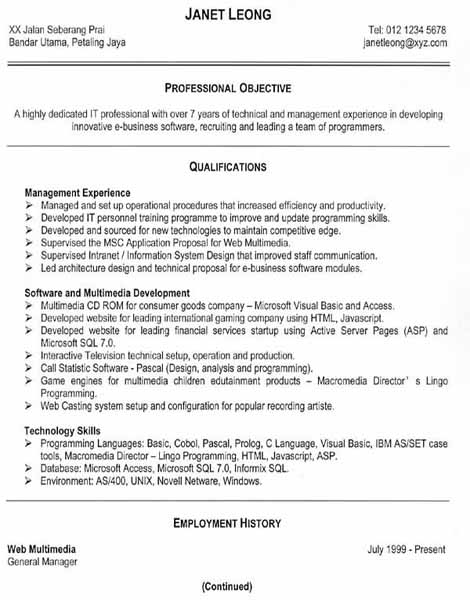 Proper Format For Resumeregularmidwesterners Resume And Templates