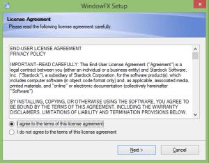 Install WindowFX5 - Step 1