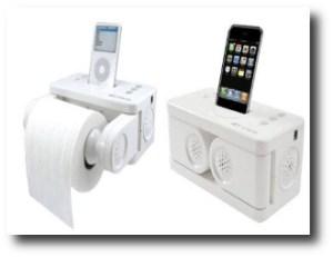 2. iPod toilet dock
