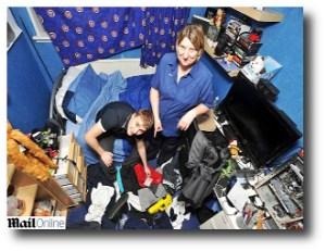 9. Limpiar tu cuarto
