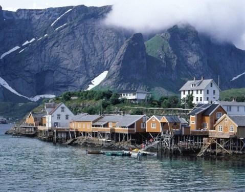 Moskenes?y island village view, Lofoten, Norway