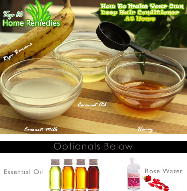 DIY Homemade Banana Deep Hair Conditioner Top 10 Home