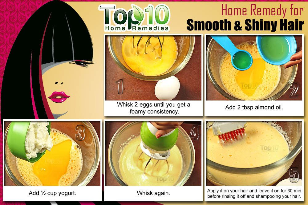 Home Remedies For Smooth And Shiny Hair Top 10 Home Remedies