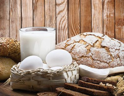 vitamina B no leite e ovos