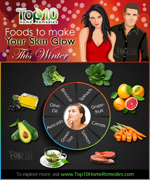 superfoods to make your skin glow this winter