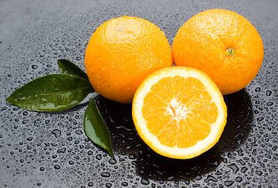 gotas de água de laranja