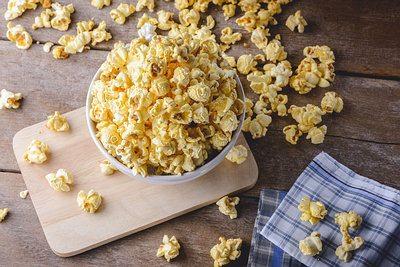 oil-popped popcorn