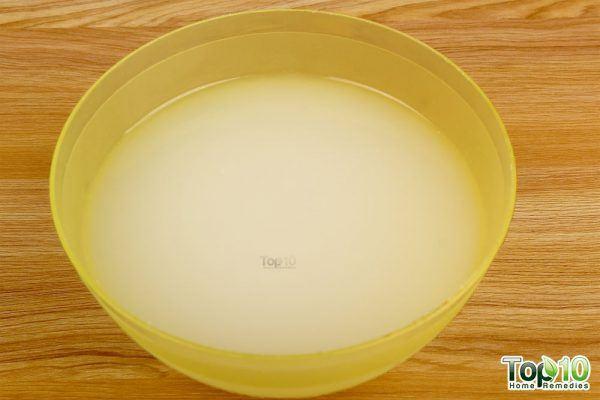 homemade rice water