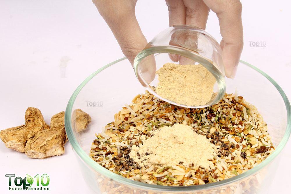 Add ginger powder