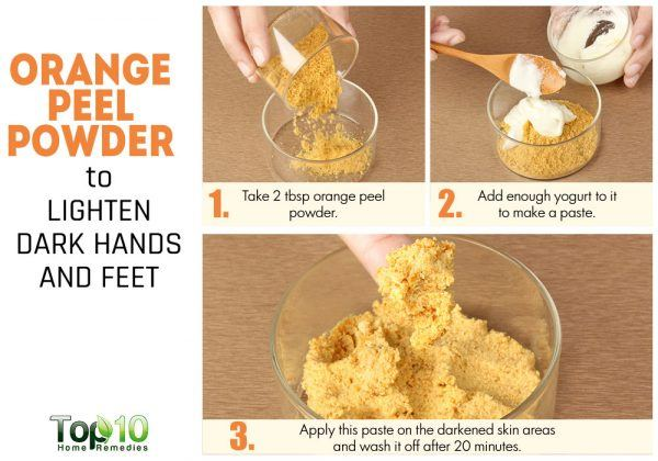 orange peel to lighten dark skin