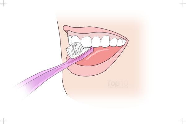 brush the biting surface of your teeth