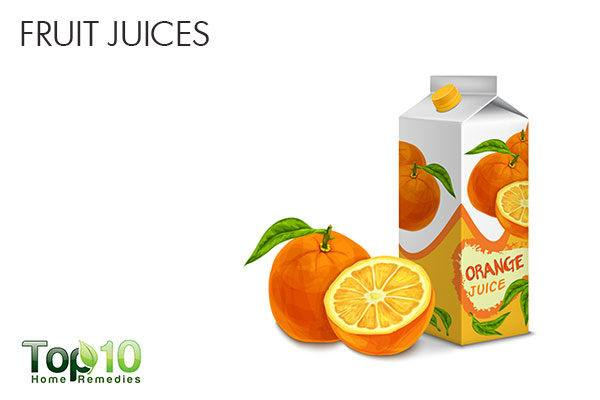 opt for fruits instead of store-bought fruit juices