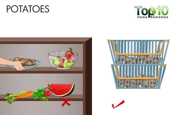 do not store potatoes in refrigerator
