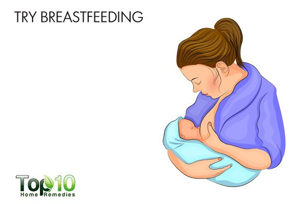 Try breastfeeding to tighten loose skin after pregnancy