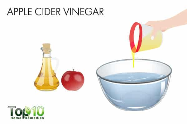 Use apple cider vinegar for bumps on forehead