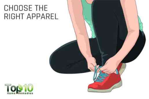 Choose the right apparel and shoes