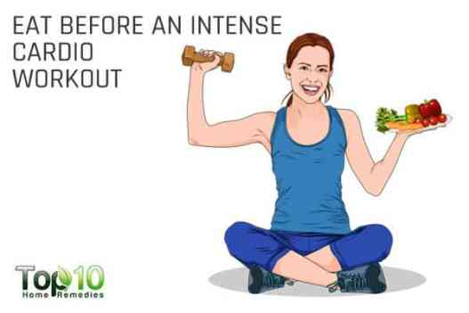Eat before intense cardio workout