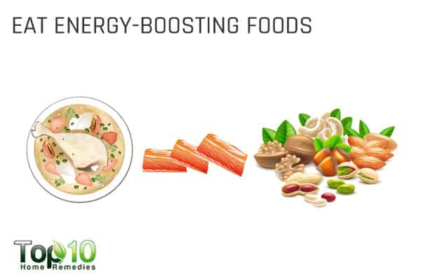 eat energy-boosting foods to beat tiredness and increase energy levels