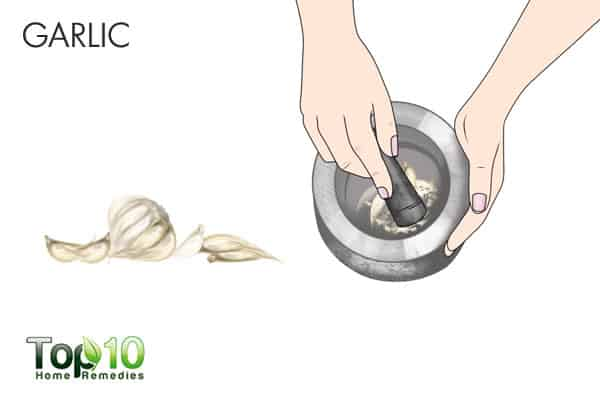 garlic for ringworm of the scalp
