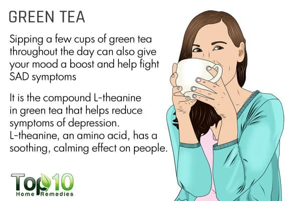 green tea to fight seasonal affective disorder