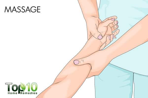 massage to treat diabetic nerve pain