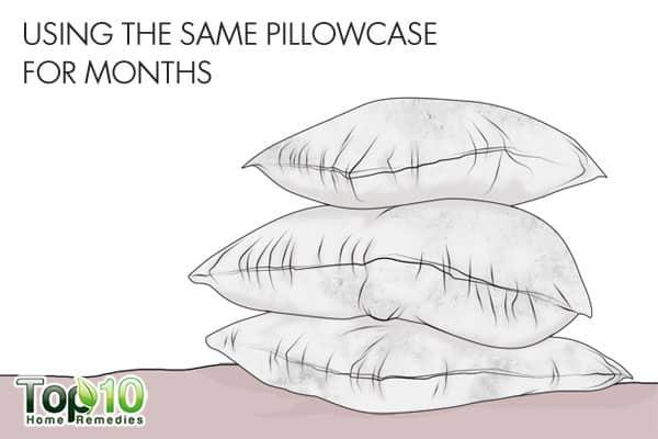 using the same pillowcase for months can ruin hair